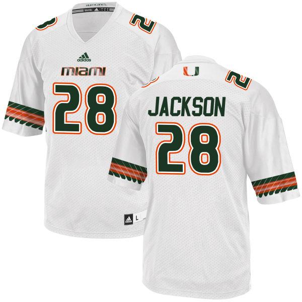 Men's Michael Jackson Miami Hurricanes Game White adidas Jersey