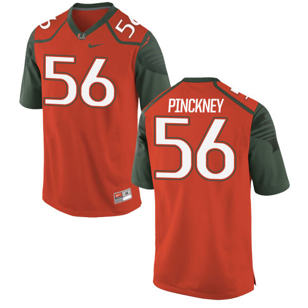 Men's Nike Michael Pinckney Miami Hurricanes Game Orange Football Jersey
