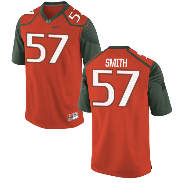 Men's Nike Mike Smith Miami Hurricanes Game Orange Football Jersey