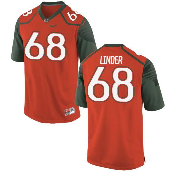 Men's Nike Nick Linder Miami Hurricanes Authentic Orange Football Jersey