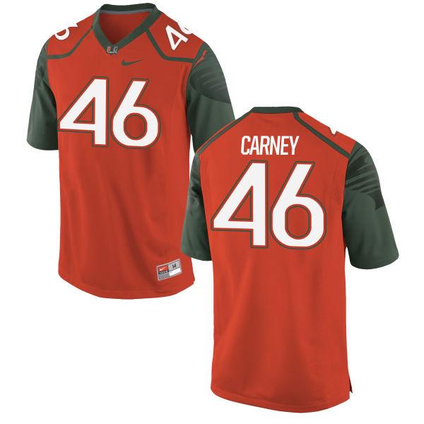 Men's Nike O'Juan Carney Miami Hurricanes Limited Orange Football Jersey