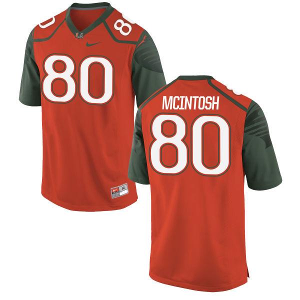 Men's Nike RJ McIntosh Miami Hurricanes Replica Orange Football Jersey