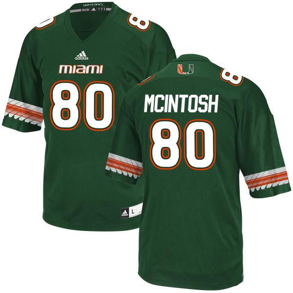 Men's RJ McIntosh Miami Hurricanes Replica Green adidas Jersey