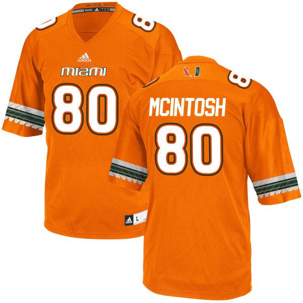 Men's RJ McIntosh Miami Hurricanes Replica Orange adidas Jersey