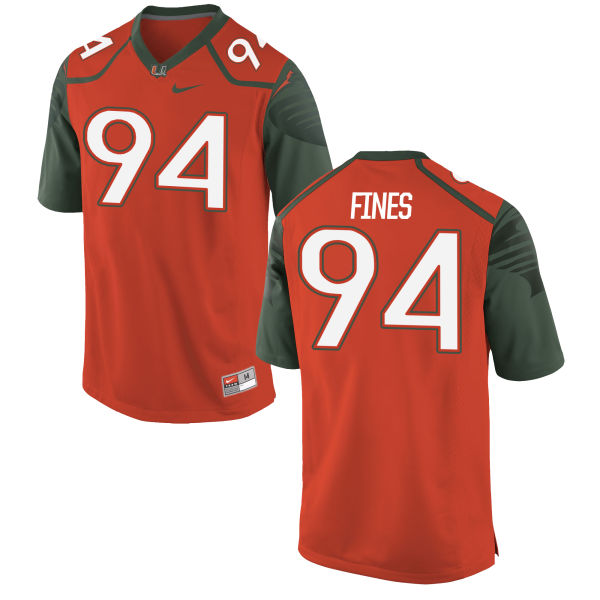 Men's Nike Ryan Fines Miami Hurricanes Limited Orange Football Jersey