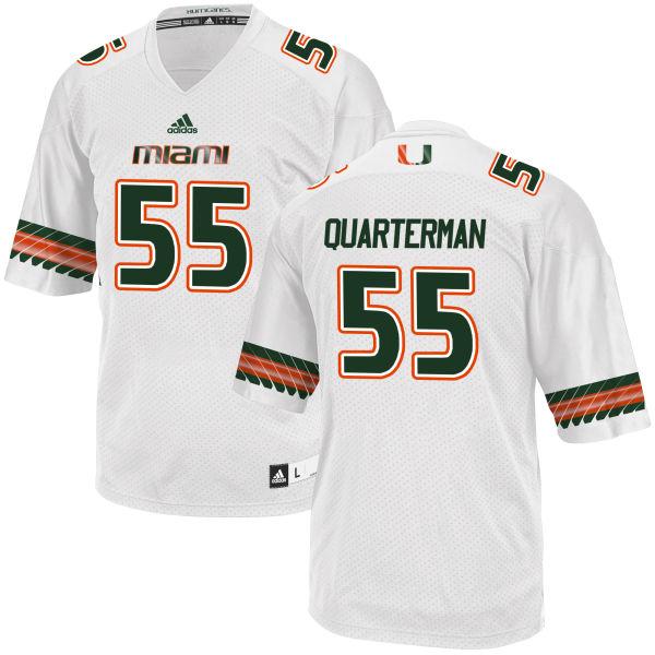 Men's Shaquille Quarterman Miami Hurricanes Authentic White adidas Jersey