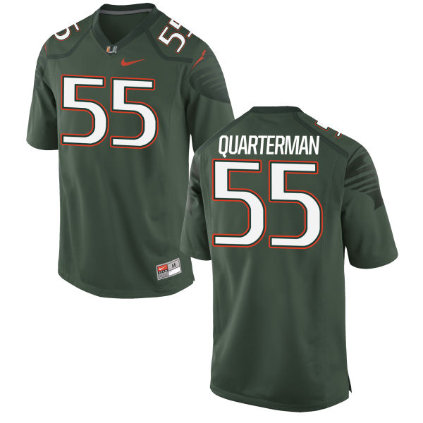 Men's Nike Shaquille Quarterman Miami Hurricanes Game Green Alternate Jersey