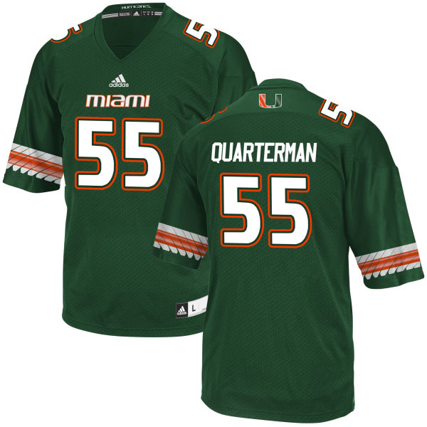 Men's Shaquille Quarterman Miami Hurricanes Game Green adidas Jersey