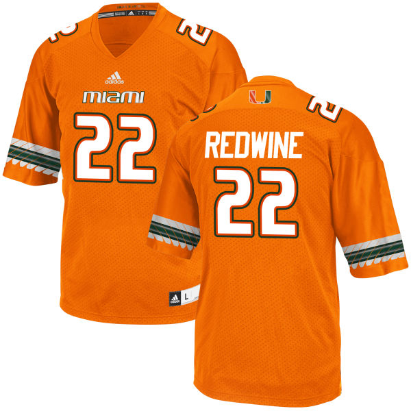 Men's Sheldrick Redwine Miami Hurricanes Game Orange adidas Jersey