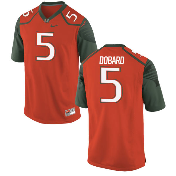 Men's Nike Standish Dobard Miami Hurricanes Replica Orange Football Jersey