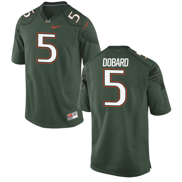 Men's Nike Standish Dobard Miami Hurricanes Game Green Alternate Jersey