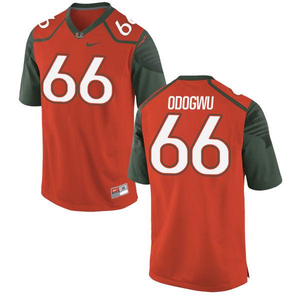 Men's Nike Sunny Odogwu Miami Hurricanes Authentic Orange Football Jersey