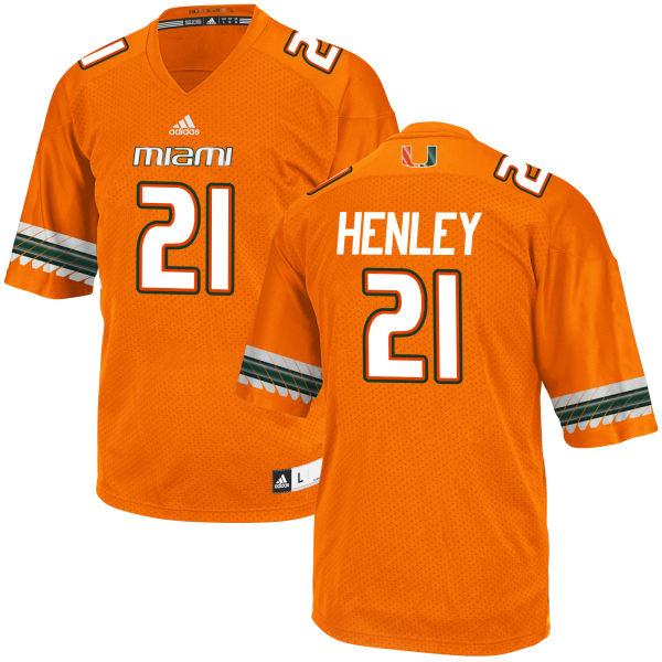 Men's Terrance Henley Miami Hurricanes Replica Orange adidas Jersey