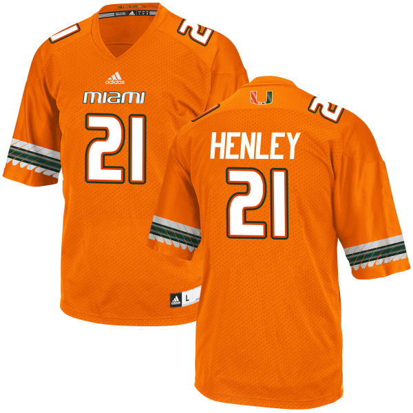 Men's Terrance Henley Miami Hurricanes Authentic Orange adidas Jersey