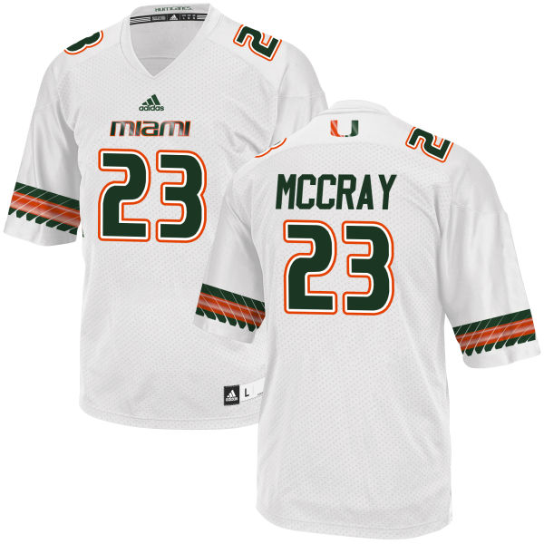 Men's Terry McCray Miami Hurricanes Limited White adidas Jersey