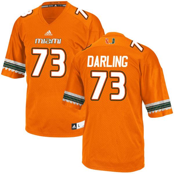 Men's Trevor Darling Miami Hurricanes Replica Orange adidas Jersey