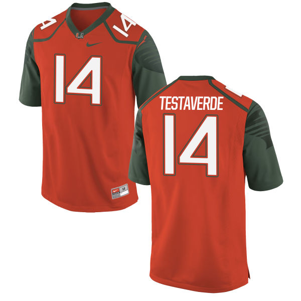 Men's Nike Vincent Testaverde Miami Hurricanes Replica Orange Football Jersey