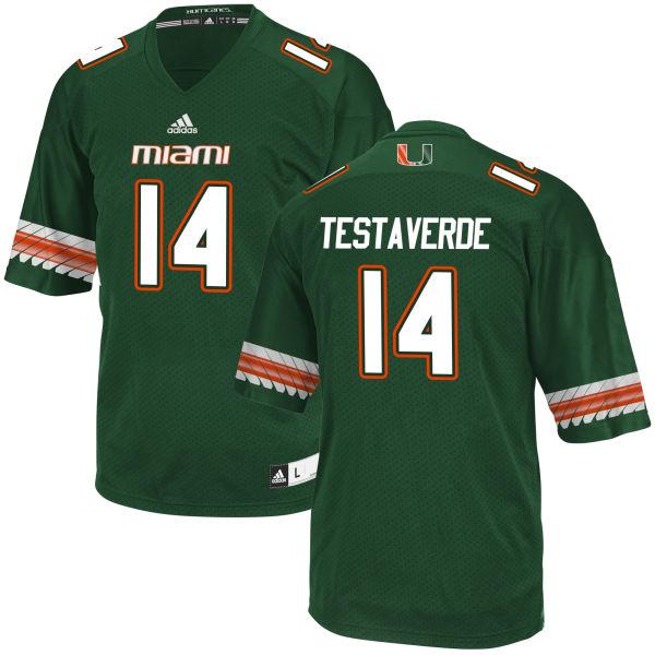 Men's Vincent Testaverde Miami Hurricanes Limited Green adidas Jersey