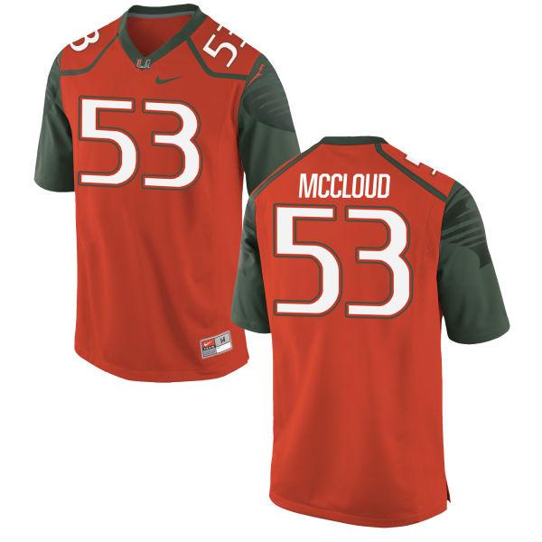 Men's Nike Zach McCloud Miami Hurricanes Replica Orange Football Jersey