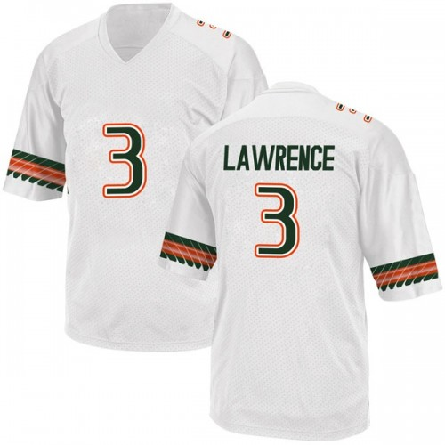 Men's Adidas Anthony Lawrence II Miami Hurricanes Game White Alternate College Jersey