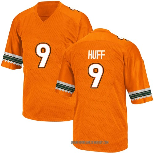 Men's Adidas Avery Huff Miami Hurricanes Game Orange Alternate College Jersey