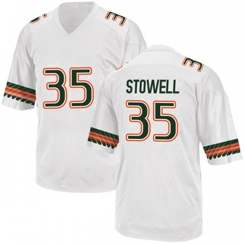 Men's Adidas Chris Stowell Miami Hurricanes Game White Alternate College Jersey