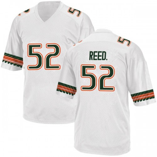 Men's Adidas Cleveland Reed Jr. Miami Hurricanes Replica White Alternate College Jersey
