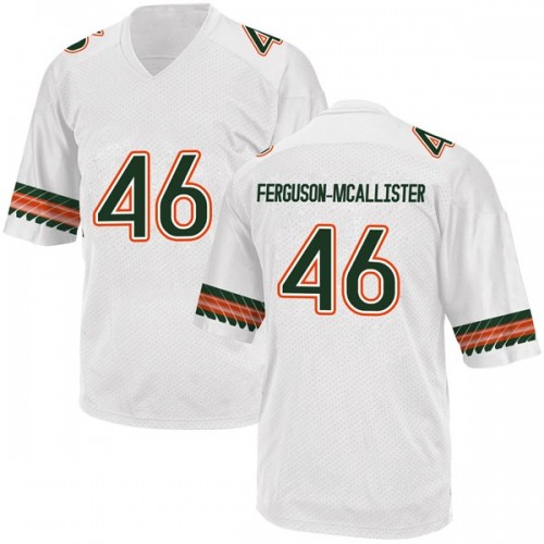 Men's Adidas Daniel Ferguson-McAllister Miami Hurricanes Game White Alternate College Jersey