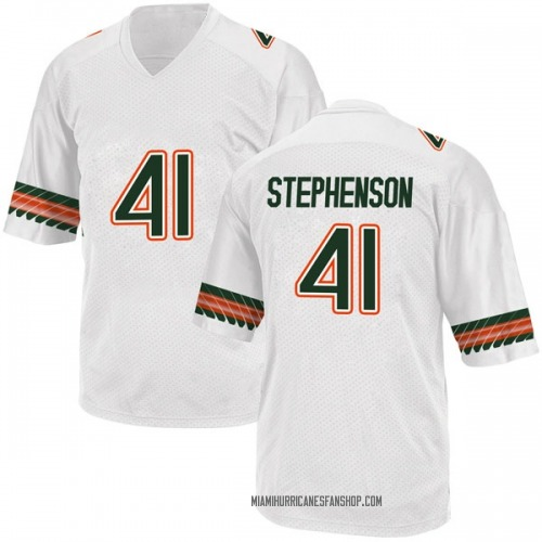 Men's Adidas Darian Stephenson Miami Hurricanes Replica White Alternate College Jersey