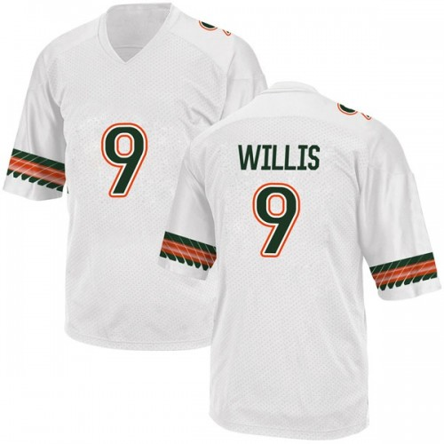 Men's Adidas Gerald Willis III Miami Hurricanes Game White Alternate College Jersey