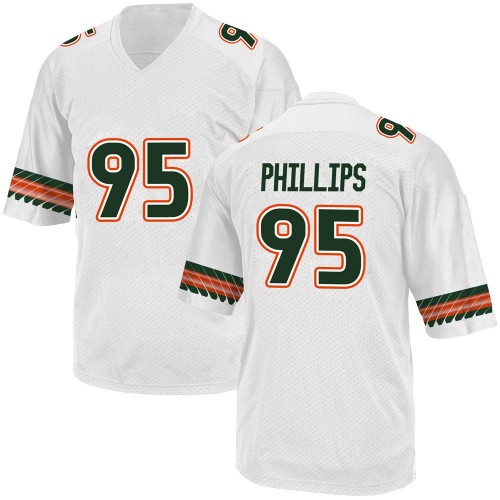 Men's Adidas Jaelan Phillips Miami Hurricanes Replica White Alternate College Jersey