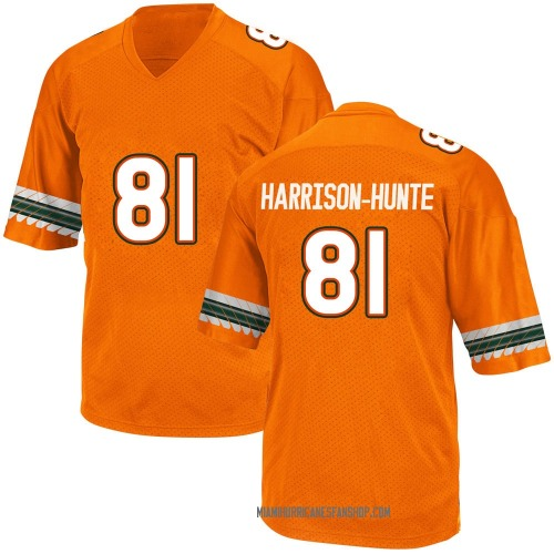 Men's Adidas Jared Harrison-Hunte Miami Hurricanes Replica Orange Alternate College Jersey