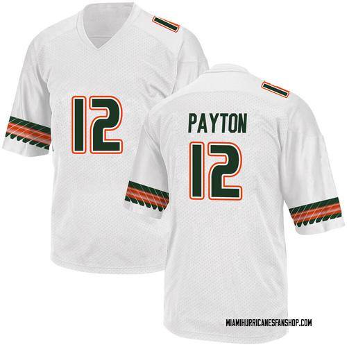 Men's Adidas Jeremiah Payton Miami Hurricanes Replica White Alternate College Jersey