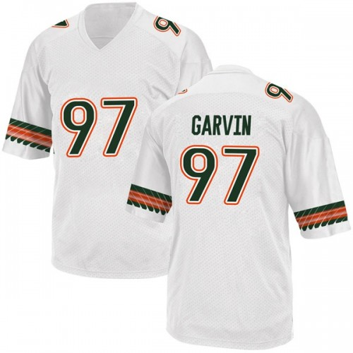 Men's Adidas Jonathan Garvin Miami Hurricanes Replica White Alternate College Jersey