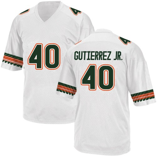 Men's Adidas Luis Gutierrez Jr. Miami Hurricanes Game White Alternate College Jersey