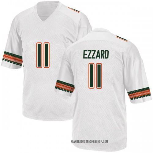 Men's Adidas Marquez Ezzard Miami Hurricanes Game White Alternate College Jersey