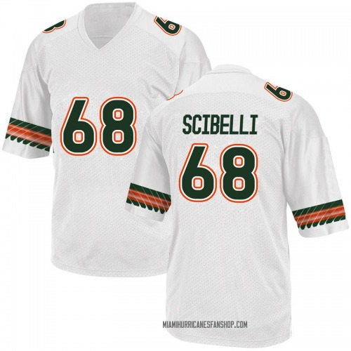 Men's Adidas Michael Scibelli Miami Hurricanes Game White Alternate College Jersey