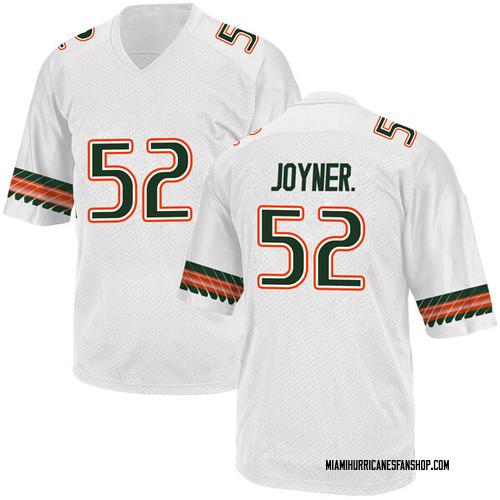 Men's Adidas Patrick Joyner Jr. Miami Hurricanes Replica White Alternate College Jersey