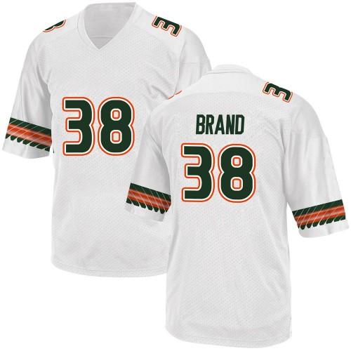 Men's Adidas Robert Brand Miami Hurricanes Game White Alternate College Jersey