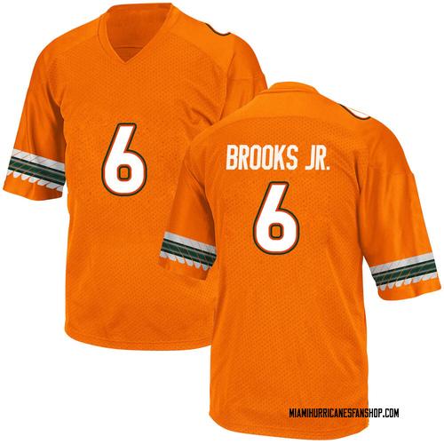 Men's Adidas Sam Brooks Jr. Miami Hurricanes Replica Orange Alternate College Jersey