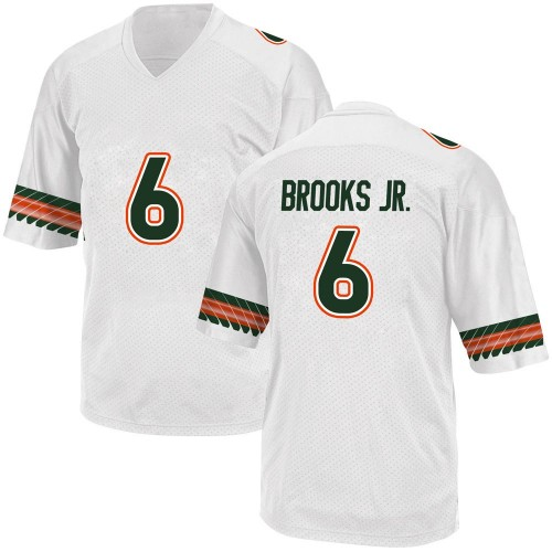 Men's Adidas Sam Brooks Jr. Miami Hurricanes Replica White Alternate College Jersey