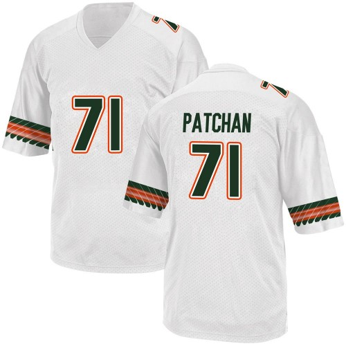 Men's Adidas Scott Patchan Miami Hurricanes Game White Alternate College Jersey
