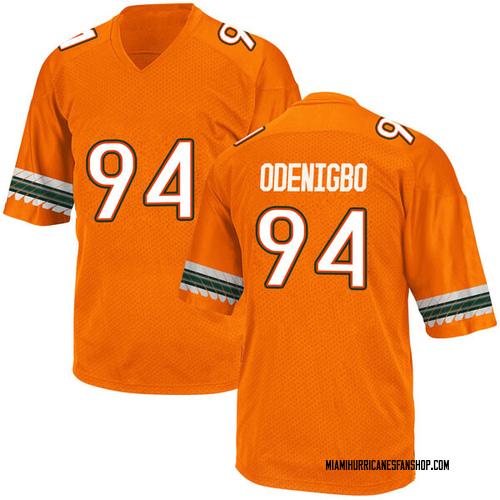 Men's Adidas Tito Odenigbo Miami Hurricanes Game Orange Alternate College Jersey