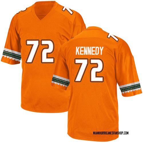 Men's Adidas Tommy Kennedy Miami Hurricanes Game Orange Alternate College Jersey