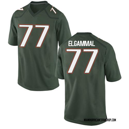 Men's Nike Adam ElGammal Miami Hurricanes Replica Green Alternate College Jersey