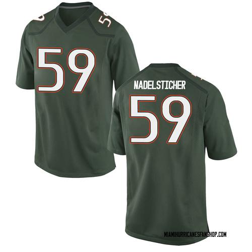 Men's Nike Alan Nadelsticher Miami Hurricanes Game Green Alternate College Jersey