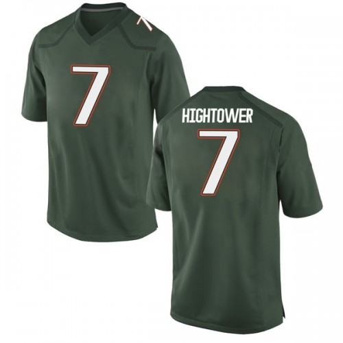 Men's Nike Brian Hightower Miami Hurricanes Game Green Alternate College Jersey