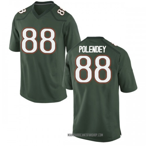 Men's Nike Brian Polendey Miami Hurricanes Game Green Alternate College Jersey