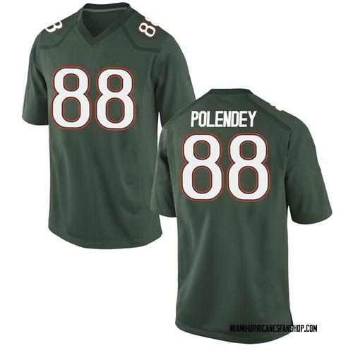 Men's Nike Brian Polendey Miami Hurricanes Game Green Alternate College Jersey