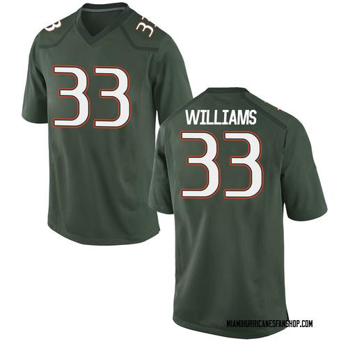 Men's Nike Chantz Williams Miami Hurricanes Game Green Alternate College Jersey